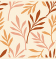 simple seamless pattern with abstract leaves vector image vector image