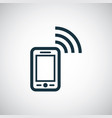 smartphone wifi icon for web and ui on white vector image
