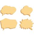 speech bubbles consisting waffles vector image
