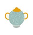 sugar bowl cute ceramic crockery vector image
