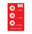 summer sale poster with articles on sale vector image