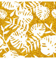 tile tropical pattern with white exotic leaves vector image vector image