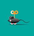 toy mouse on wheels with a key vector image