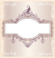 vintage wedding frame with bird vector image vector image
