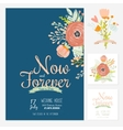 wedding romantic floral save date invitations vector image vector image