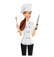 Woman chef portrait vector image vector image