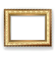 Wooden vintage gold frame vector | Price: 1 Credit (USD $1)
