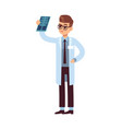 x ray look doctor holding and looking vector image
