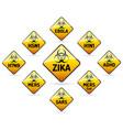 zika mers sars h5n1 biohazard virus sign vector image vector image