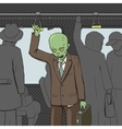 Zombie goes to work pop art vector image vector image