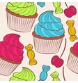 background with of cake seamless pattern vector image
