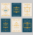 royal wedding design card templates with vector image