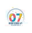 7 birthday celebration modern 7th birthday design