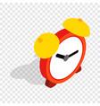 alarm clock isometric icon vector image vector image