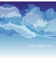 background with sky and clouds vector image