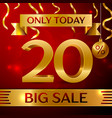 big sale twenty percent for discount vector image vector image