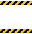 black and yellow line striped background caution vector image vector image