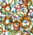 bright round rainbow circles on white background vector image