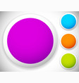 circle button badge blank backgrounds in four vector image