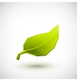 Conceptual polygonal green leaf vector image