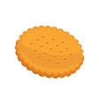 cracker fresh pastry in flat vector image vector image