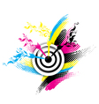Creative CMYK design vector image