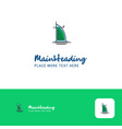 creative dubai hotel logo design flat color logo vector image