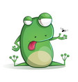 cute funny frog cartoon vector image