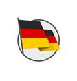 deutschland federation flag vec vector image vector image