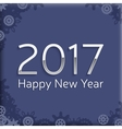 digital happy new year 2017 text design vector image vector image