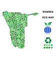 eco green composition namibia map vector image vector image