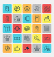 ecommerce icons set collection of recommended vector image vector image