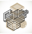 engineering three-dimensional construction vector image vector image