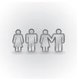 Figures holding hands vector image vector image