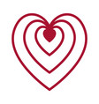 flat color heart icon vector image vector image