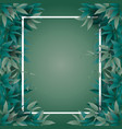 frame with jungle leaves vector image vector image