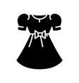 girl dress black icon concept vector image vector image