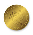 golden iota coin vector image