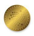golden iota coin vector image vector image
