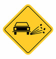 gravel traffic sign vector image vector image