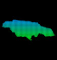 halftone jamaica map vector image vector image