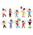 happy birthday characters isolated people group vector image vector image