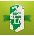 Happy Earth Day realistic Holiday Banner Template vector image