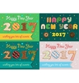 Happy New Year 2017 Colorful Donuts font vector image vector image
