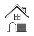 Home family House with door and windows vector image vector image