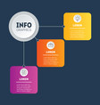 infographic technology or education process on vector image vector image