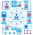 Infographics circular concept with lot of elements vector image vector image