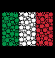 italy flag pattern of apple icons vector image vector image