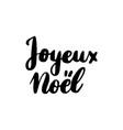 joyeux noel lettering vector image