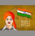 Kargil vijay diwasn 26th july vector image
